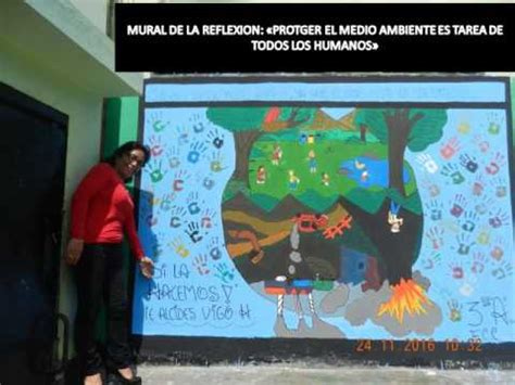 mural sobre el medio ambiente i e pnp alcides vigo hurtado