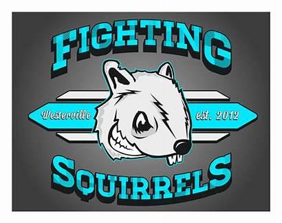 Fantasy Football Fighting Team Squirrels Logos Create