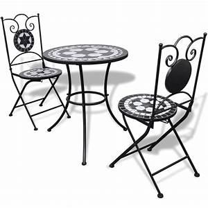 Bistrotisch Mit Stühlen : vidaxl mosaik bistrotisch 60 cm mit 2 st hlen schwarz wei g nstig kaufen ~ A.2002-acura-tl-radio.info Haus und Dekorationen