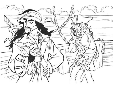 Captain Jack Sparrow Pirates Of The Caribbean Coloring