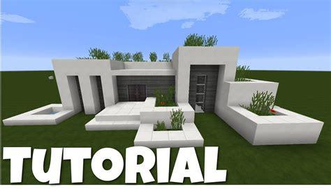 Minecraft Modernes Haus  Weißgrau Bauen Tutorial