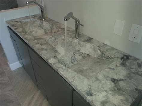 double sink granite countertop long exotic stone bathroom countertop with double though