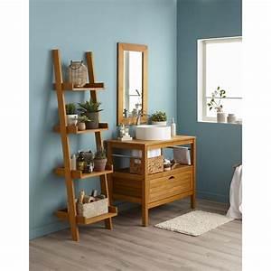 Meuble de salle de bains de 80 a 99 brun marron for Meuble salle de bain surabaya