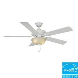 hton bay larson 52 in white ceiling fan al420 wh the