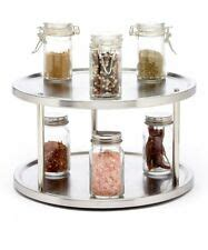 2 Tier Spice Rack Lazy Susan by Lazy Susan Spice Rack Ebay