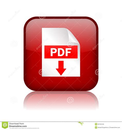 Pdf Download Button Stock Vector. Image Of Download, Click