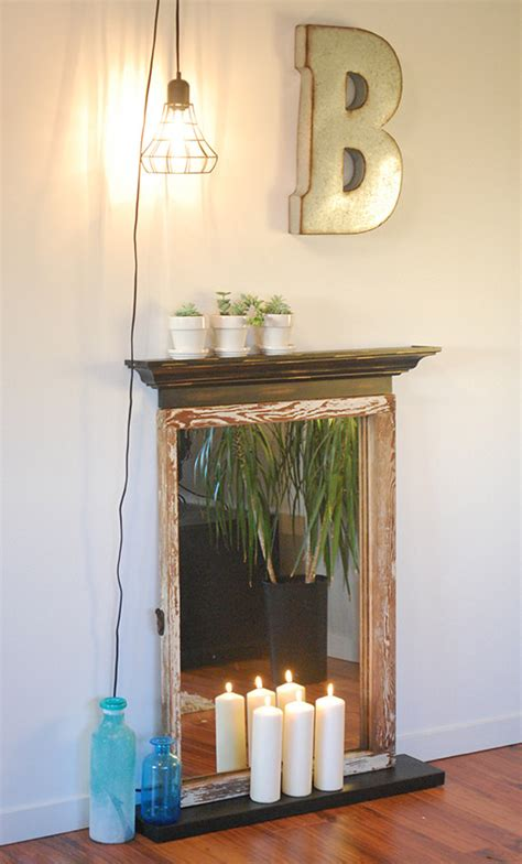 diy faux fireplace easy diy faux fireplace the budget decorator