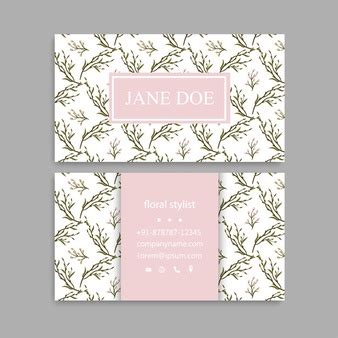 girly business cards templates free vintage pattern vectors photos and psd files free