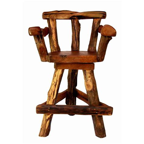 furniture counter height swivel stool with arm and black