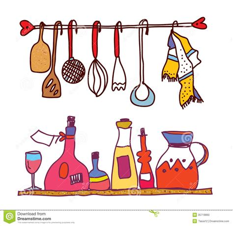 Kitchen Utensils Clipart Kitchen Clipart Cooking Utensil Pencil And In Color