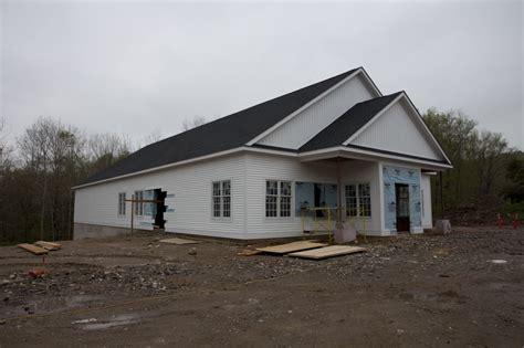 exterior progress   church building cibc redding