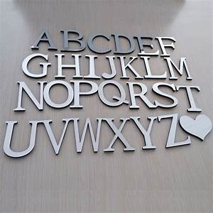 online get cheap 3d alphabet stickers aliexpresscom With acrylic wall letters
