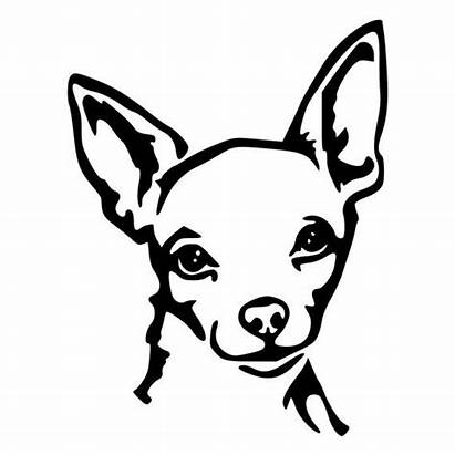 Chihuahua Face Decal Window Cut Die