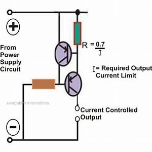 Super Circuit Diagram  Current Limiter Circuit Using Two Transistors