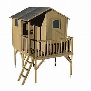 Maisonnette En Bois Sur Pilotis : maisonnette en bois typhaine sur pilotis soulet leroy ~ Dailycaller-alerts.com Idées de Décoration