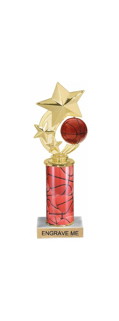 Shooting Star Spinning Basketball Trophies Engraving Trophy