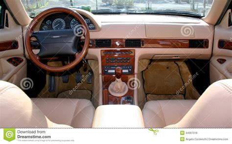 maserati spa interior maserati quattroporte v6 evoluzione editorial stock photo