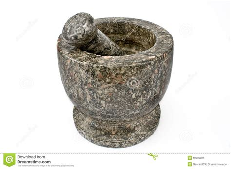 granite mortar and pestle stock image image 19896021