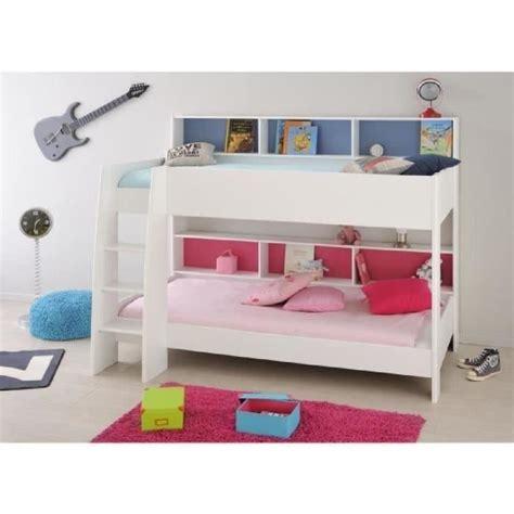 lit superposé avec jim lit superposé enfant fille avec sommiers décor blanc