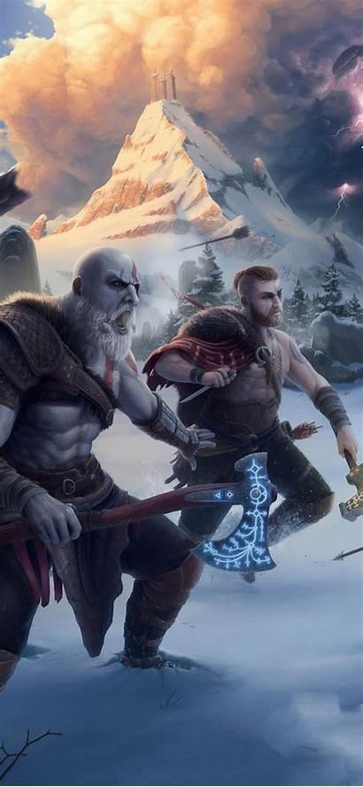 God War 4k Wallpapers Artwork Kratos Iphone