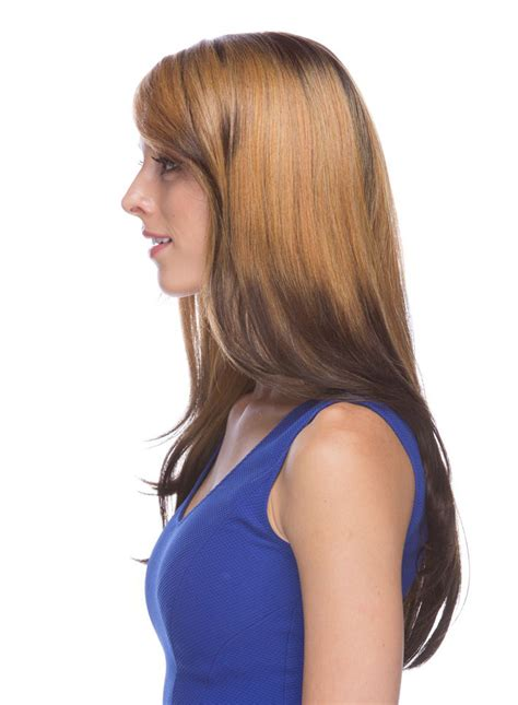layered lace front wig elise  swoop bangs