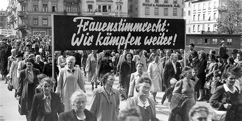 Schweizer Frauenstimmrecht: «Es war der reine Unwille ...