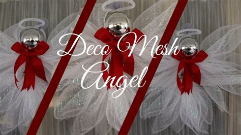 deco mesh angel tutorial    dollar tree diy