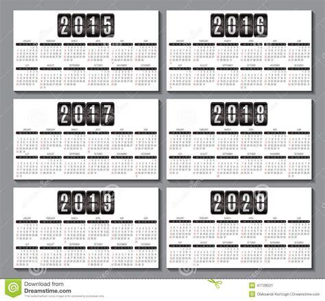calendar grid business card stock vector