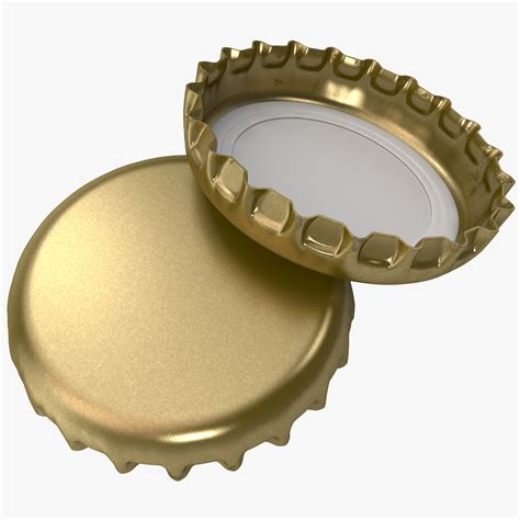 bottle cap crown cork bottle cap 3d model