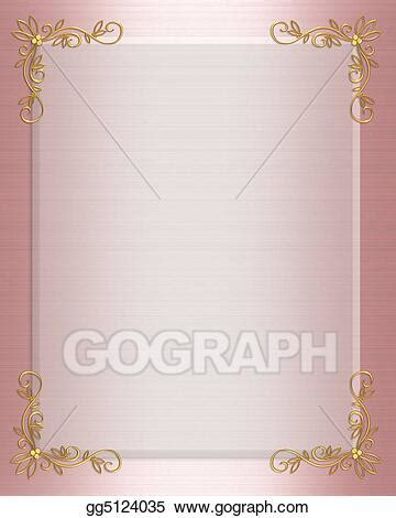 drawing formal invitation border pink clipart drawing