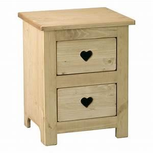 peindre meuble en pin 16 table de chevet bois brut evtod With peindre des meubles en pin
