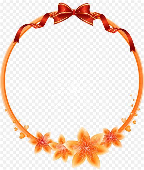 gambar perbatasan bunga desain floral seni klip bingkai
