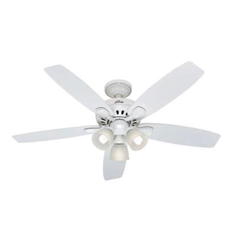 home depot white ceiling fan with remote hunter highbury 52 in white ceiling fan