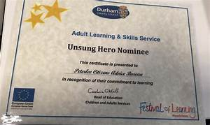 Peterlee office gains Unsung Hero accolade : Citizens ...