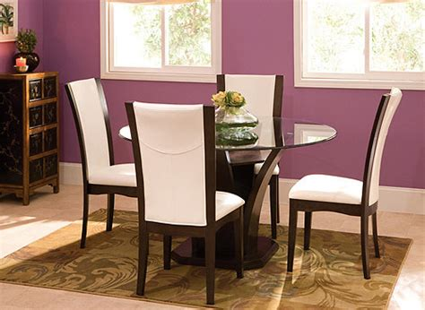 venice 5 pc 54 quot glass dining set dining sets raymour