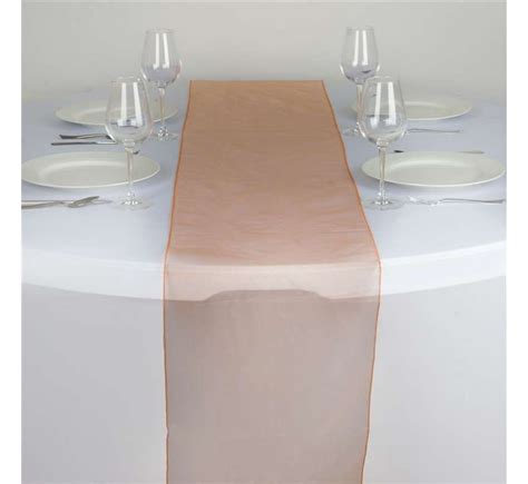 chemin de table orange chemin de table organza orange les couleurs du mariage