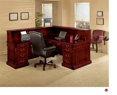 Traditional Reception Desk by The Office Leader Dmi Keswick 7990 66 Traditional Veneer