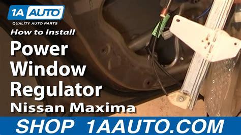 install replace rear power window regulator nissan