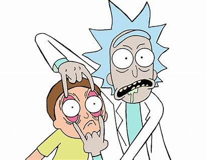 Morty Rick Drawing Stickers Ricky Drawings Funny