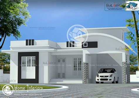 1323 Sq Ft Single Floor Contemporary Home Design - Home