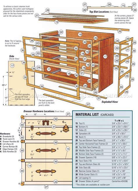 steamer trunk dresser plans woodarchivist