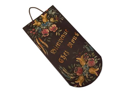 French Welcome to Our Home Door Sign, Vintage Porch Decor ...