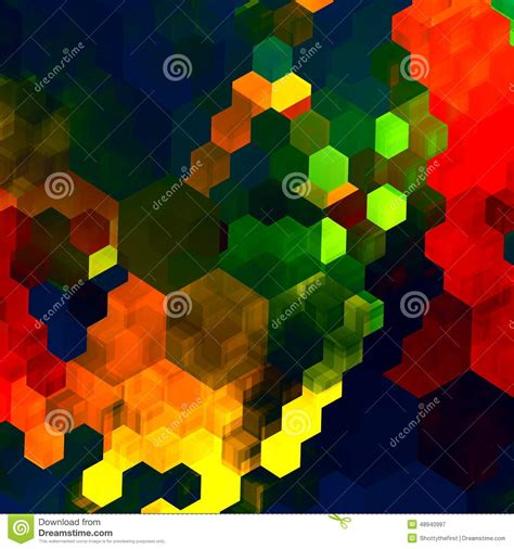 mosaic abstract background red green blue colorful