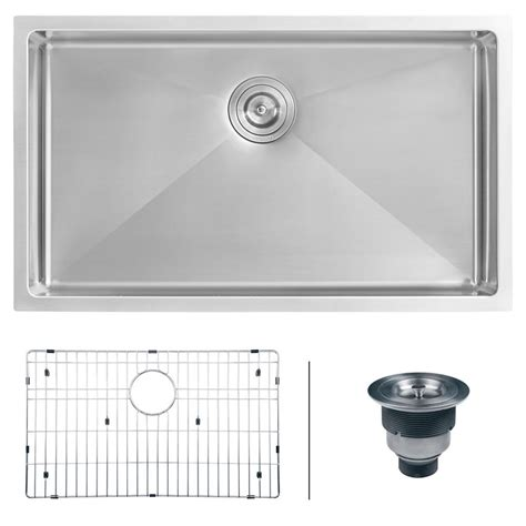 stainless steel undermount kitchen sinks single bowl ruvati undermount stainless steel 30 in 16 single