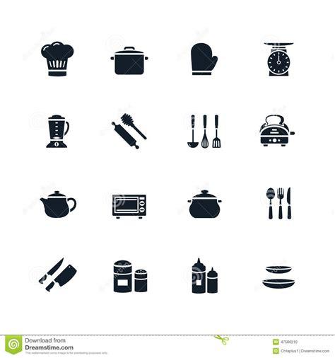 pictogramme cuisine icône de vaisselle de cuisine illustration de vecteur
