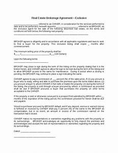 brokerage agreement exclusive 1png With real estate broker agreement template