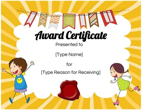 custom certificates  kids customize