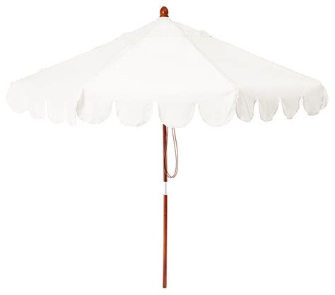 scallop edge patio umbrella white contemporary