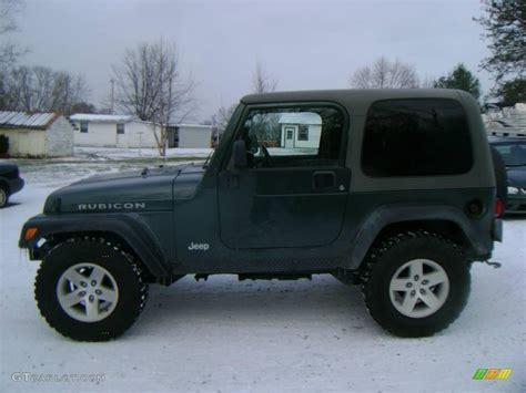 green jeep rubicon 2003 shale green metallic jeep wrangler rubicon 4x4