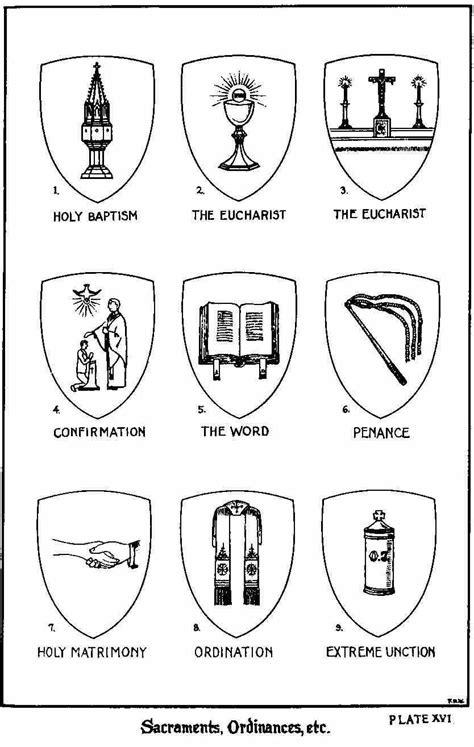 catholic symbols    sacraments illust  sister